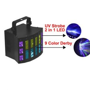 Luces led Derby 9x3w + Led Uv 6x3w