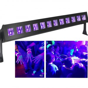 Luces Fiesta Fluor venta de barra led uv 12x3w